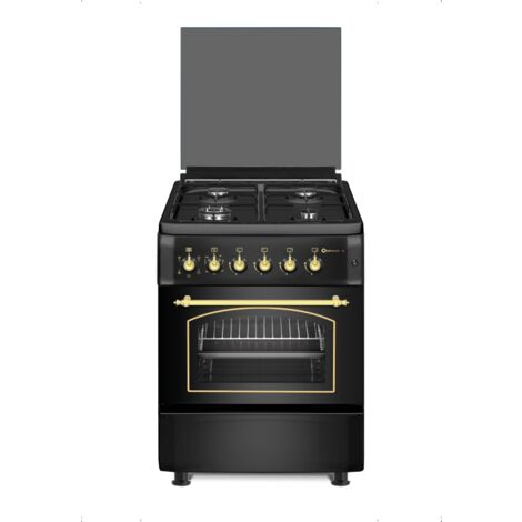 """main image of """"SOLTHERMIC COCINA F6S40E5RB NEGRA HORNO ELECTRICO"""""""