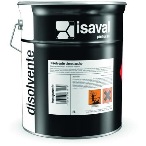 Solvant caoutchouc chloré 5L-Isaval