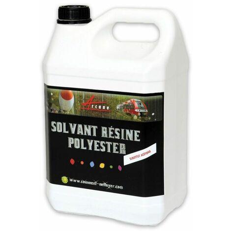 SOLVANT RÉSINE POLYESTER - Nettoyant résine polyester synthétique naturelle Gel coat Substitut acétone Collage élastomère