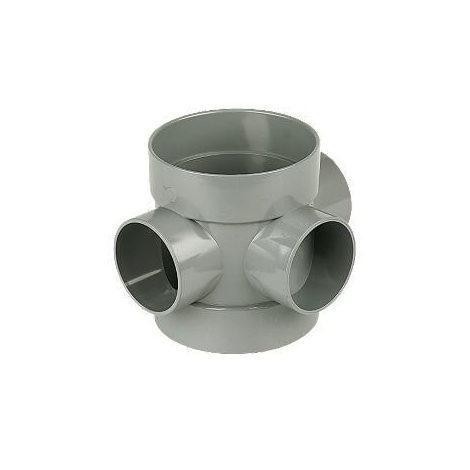 Solvent Weld Soil Short Boss Pipe - 110mm Grey