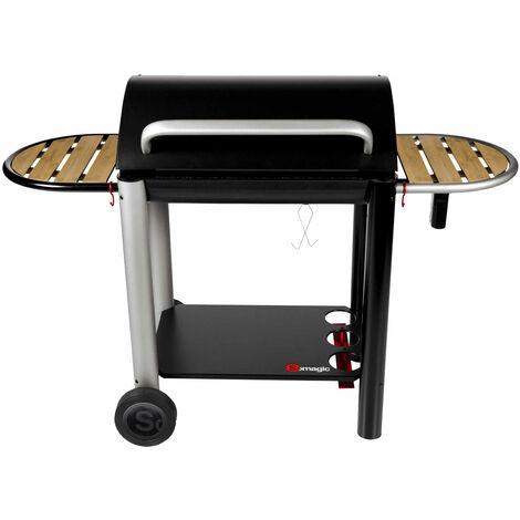 SOMAGIC - Barbecue au charbon de bois VULCANO 3000 - Noir