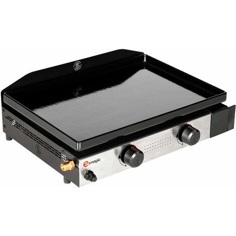 SOMAGIC - Plancha au gaz SOLIA 200 2 brûleurs 4,25kW - Noir
