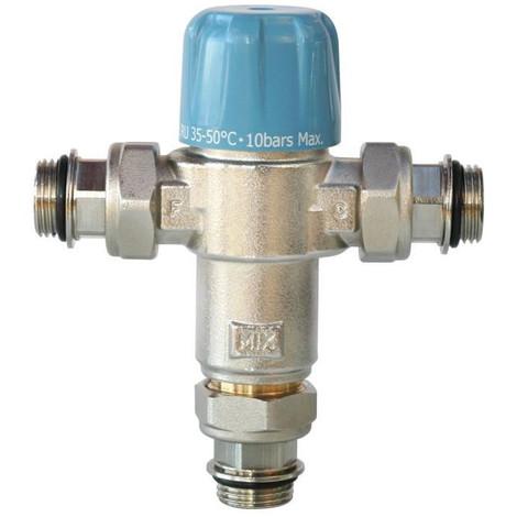 SOMATHERM 232-20S 1 X Limiteur Thermostatique Réglable NF de 35 a 50°C - Avec Clapets Anti-Retours 3/4' pour Chauffe Eau
