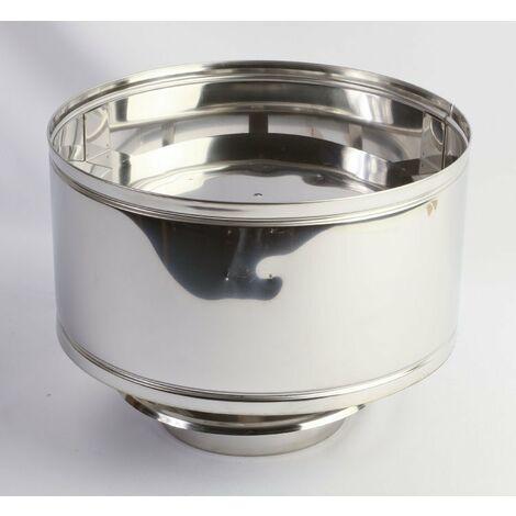 SOMBRERETE ANTILLUVIA DOBLE PARED INOX 316/304 150