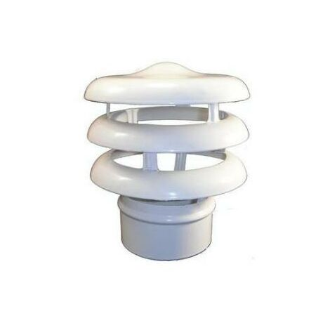 Sombrerete Extraccion/Aire Tuberia 111Mmø Aluminio blanco Alustar Vacuf