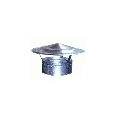 Sombrerete Fijo Chino Galvaniz - EXOJO - 861400 - 140 MM..