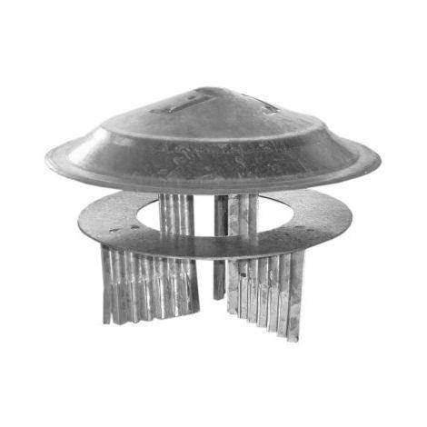 SOMBRERETE TUBO ESTUFA 080 A 150 MM AC GALV THECA