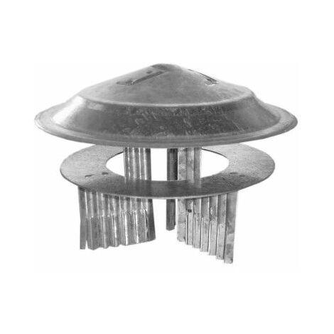 Sombrerete Tubo Estufa 080 A 150 Mm Acero Galvanizado Theca
