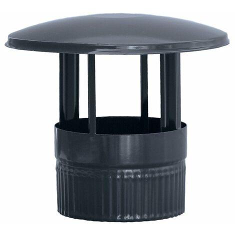 Sombrerete vitrificado negro chimenea