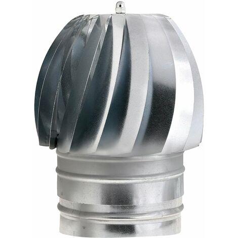 """main image of """"Wolfpack sombrero extractor galvanizado para estufa, chimenea, extracción de humos, para tubo Ø 200 mm."""""""