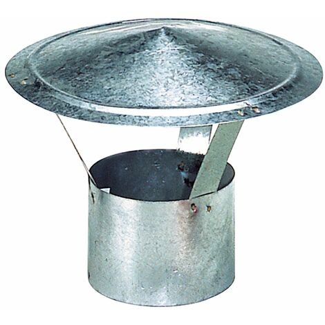 """main image of """"Wolfpack sombrero galvanizado para estufa, chimenea, extracción de humos, para tubo Ø 150 mm."""""""