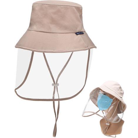 Sombrero protector, con careta transparente extraible,Caqui