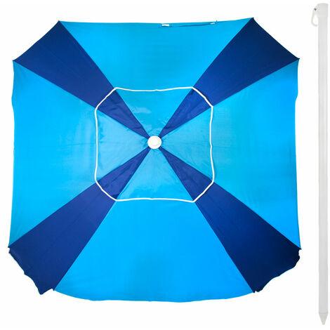 Sombrilla cuadrada con protección solar UV50 Beach 164x164 cm (Aktive 62107)