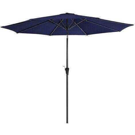 """main image of """"Sombrilla de 3 m, Parasol Octogonal de Poliéster, con Mecanismo de Inclinación y Manivela, para Jardines Exteriores, Balcón y Patio, (Base No Incluida) Azul Marino GPU30BU - Azul Marino"""""""