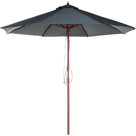 Sombrilla de jardín ø 270 color gris oscuro TOSCANA II