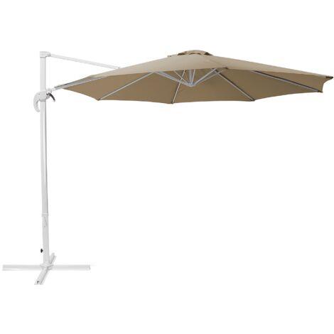 Sombrilla de jardín beige arena/blanco ø300 cm SAVONA