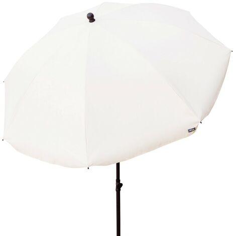 Sombrilla de jardín con filtro solar - 240 cm diámetro color marrón (Aktive 85303)