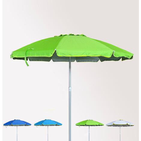 Sombrilla de playa antiviento aluminio protección UV 240 cm ROMA