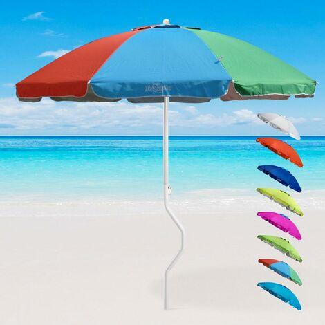 Sombrilla de playas GiraFacile 200 cm Protección uv Antiviento Ermes