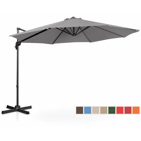 Sombrilla De Semáforo Parasol Colgante Terraza Giratoria 300 Cm Gris Oscuro