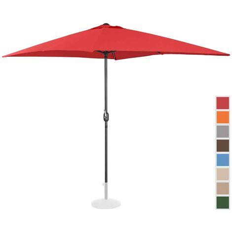 Sombrilla Para Jardín Parasol De Terraza Pantalla Rectangular 200 X 300 Cm Rojo