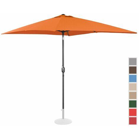 Sombrilla Para Jardín Parasol Terraza Rectangular Naranja 200X300 Cm Incl