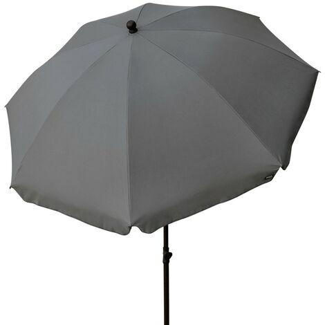Sombrilla para jardín protección UV 240 cm diámetro color gris Garden (Aktive 85304)