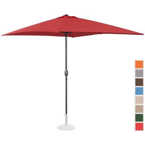 Sombrilla Para Terraza Parasol Rectangular Burdeos 200X300 Cm Protección