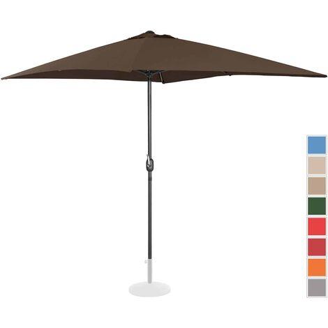 Sombrilla Para Terraza Parasol Rectangular Marrón 200 X 300 Cm Protecci&O