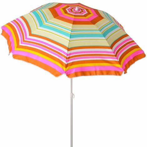 Sombrilla playa parasol rosa de acero de Ø 200 cm