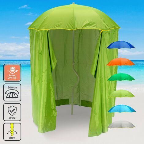 Sombrilla Playa y jardín GiraFacile 200 cm Protección UV Cortina ZEUS