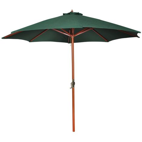 Sombrilla Verde 258 Cm