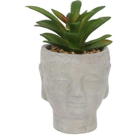 Something Different Buddha Head Planter (One Size) (Grey)