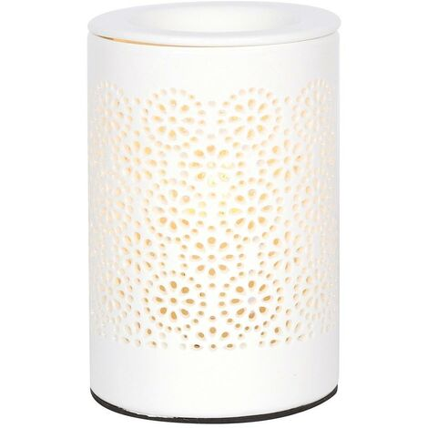 Something Different Circle Cut Out Electric Oil Burner (UK Plug) (One Size) (White)
