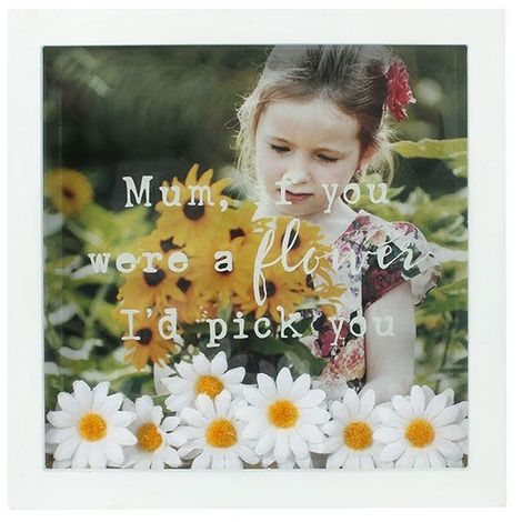 Something Different Flower Box Photo Frame (One Size) (White)