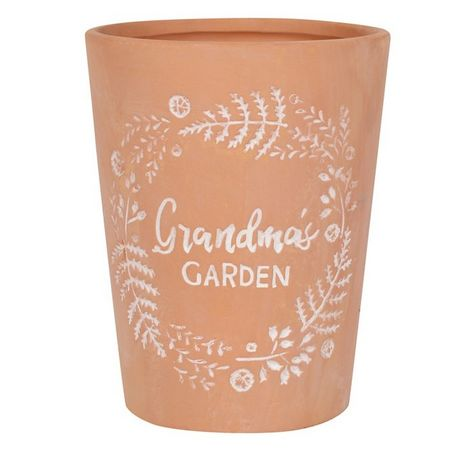 Something Different Grandmas Garden Terracotta Plant Pot (One Size) (Brown)