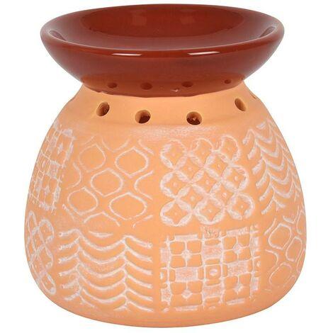 Something Different Kasbah Oil Burner (One Size) (Orange/Dark Red)