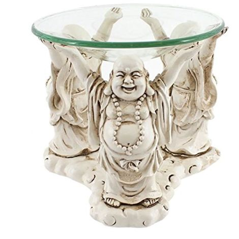 Something Different Laughing Buddhas Oil Burner (One Size) (Cream)