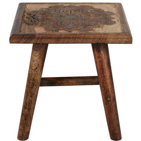 """main image of """"Something Different Mandala Stool (One Size) (Brown)"""""""