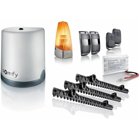 Somfy 1241524 - Motorisation de portail coulissant Freevia 400 avec batterie de secours
