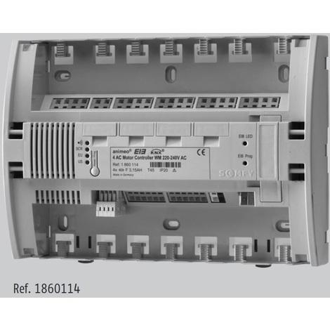 Somfy 1860114 Contrôleur KNX/EIB pour 4 moteurs AC WM/DRM 220-240V AC