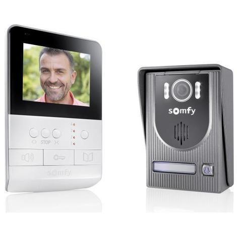 SOMFY Interphone vidéo 2 fils V100 écran couleur 4 pouces