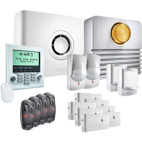 Somfy - Pack alarme Protexiom Ultimate GSM Kit 4 - Blanc