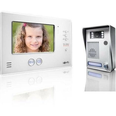 SOMFY Visiophone couleur 2 fils avec écran TFT 7 V200 blanc