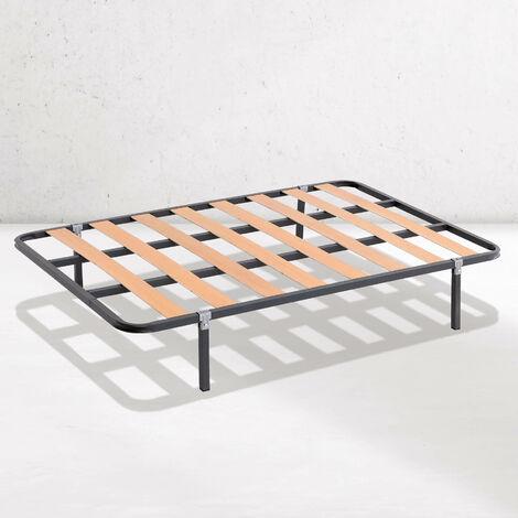 Somier de lámina ancha estructura de 30x30 | Láminas de Chopo | Con patas cuadradas