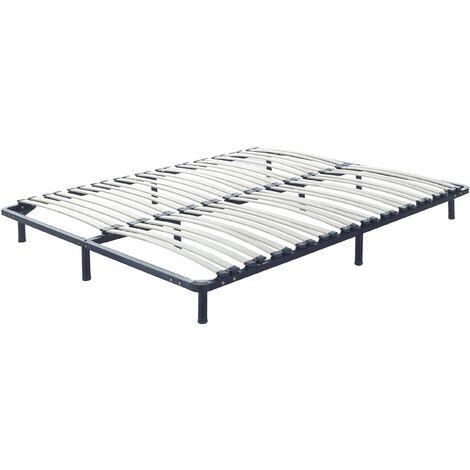 Somier de láminas con patas 160x200 cm BASIC