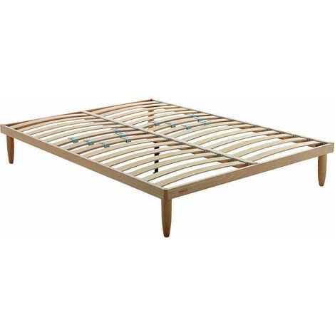 Somier de láminas Natural 14 láminas madera reforzado