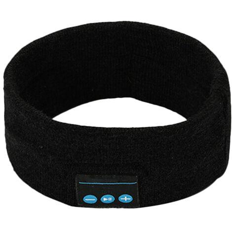 Sommeil Casque Sans Fil Bt Bandeau Sport Mains Libres Musique Bedphones Sommeil Casque Audio Avec Haut-Parleurs Stereo Et Micro Haut-Parleurs, Noir