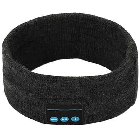 Sommeil Casque Sans Fil Bt Bandeau Sport Mains Libres Musique Bedphones Sommeil Casque Audio Avec Haut-Parleurs Stereo, Gris Fonce