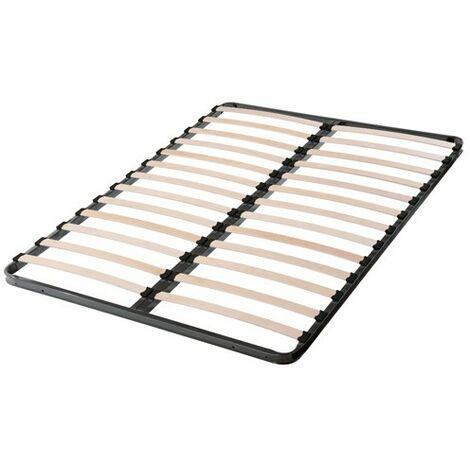 Sommier 140x190 cadre métal 2x13 lattes multiplis/
